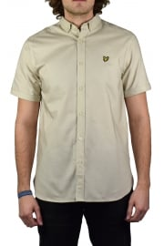 Short-Sleeved Oxford Shirt (Stone)