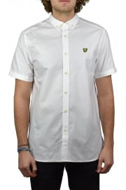 Short-Sleeved Oxford Shirt (White)