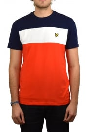 Slim Fit Block Stripe T-Shirt (Paprika)