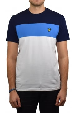 Slim Fit Block Stripe T-Shirt (White)