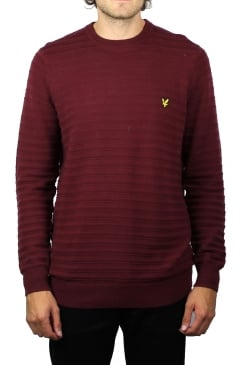 Textured Stripe Jumper (Claret Jug)