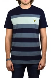 Textured Stripe T-Shirt (Navy)