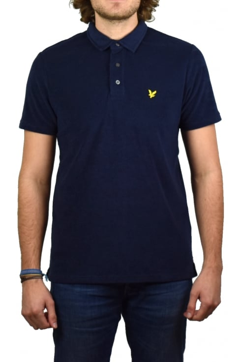 Lyle & Scott Towelling Polo Shirt (Navy)