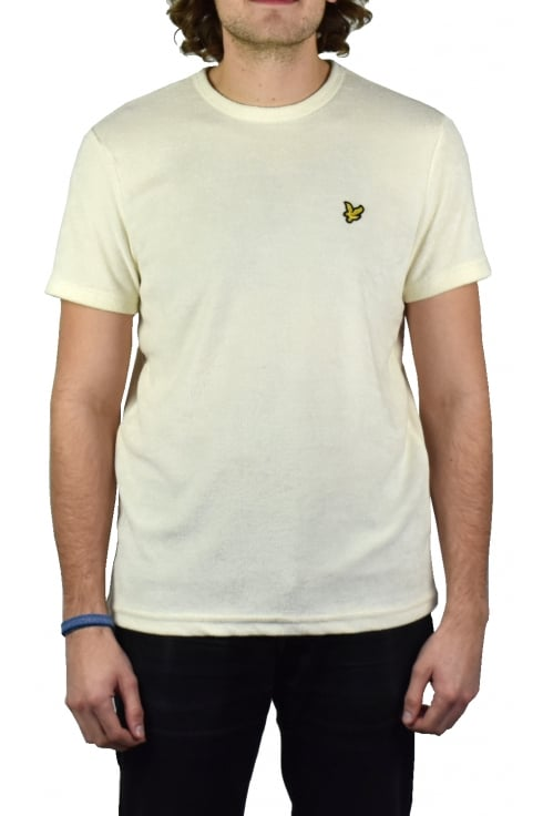 Lyle & Scott Towelling T-Shirt (Seashell White)