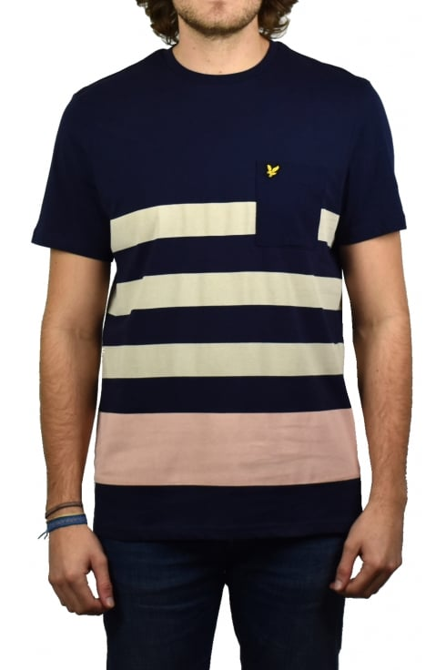 Lyle & Scott Wide Stripe T-Shirt (Navy)