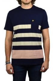 Wide Stripe T-Shirt (Navy)