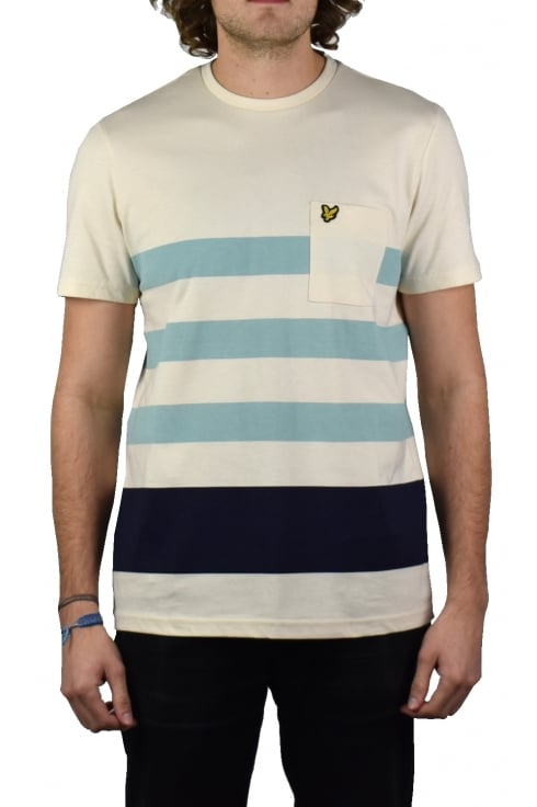 Lyle & Scott Wide Stripe T-Shirt (Seashell White)