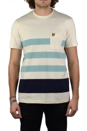 Wide Stripe T-Shirt (Seashell White)