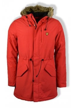 Winter Weight Microfleece Parka Jacket (Tomato Red)