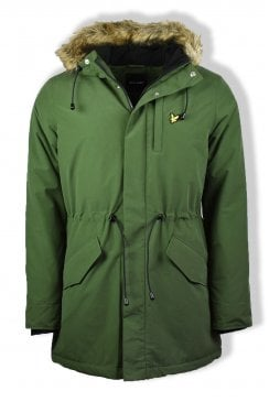 Winter Weight Microfleece Parka Jacket (Woodland Green)