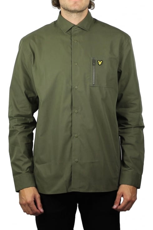 Lyle & Scott Zip Pocket Overshirt (Olive)