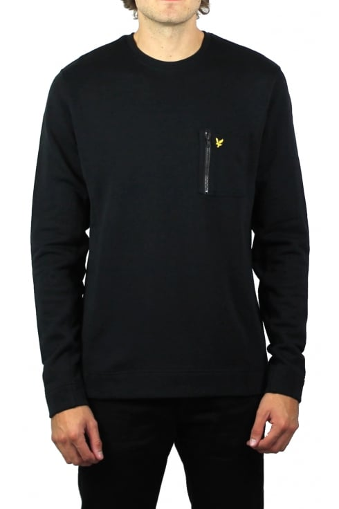Lyle & Scott Zip Pocket Sweatshirt (Black)