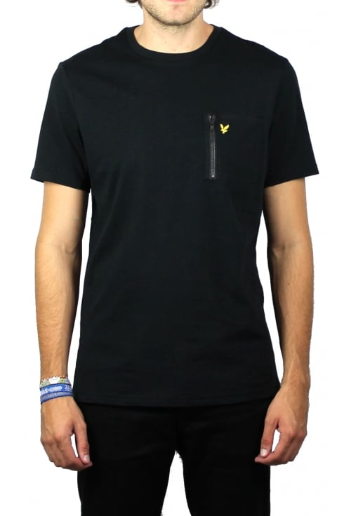 Lyle & Scott Zip Pocket T-Shirt (Black)