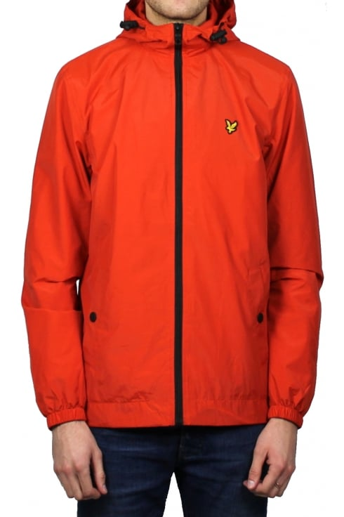 Lyle & Scott Zip-Through Hooded Jacket (Flame Red)