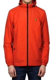Zip-Through Hooded Jacket (Flame Red)