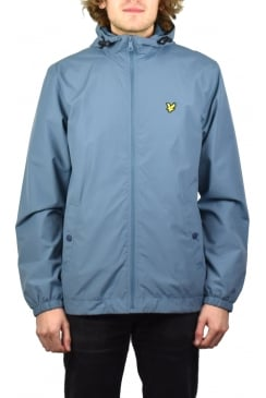 Zip Through Hooded Jacket (Mist Blue)