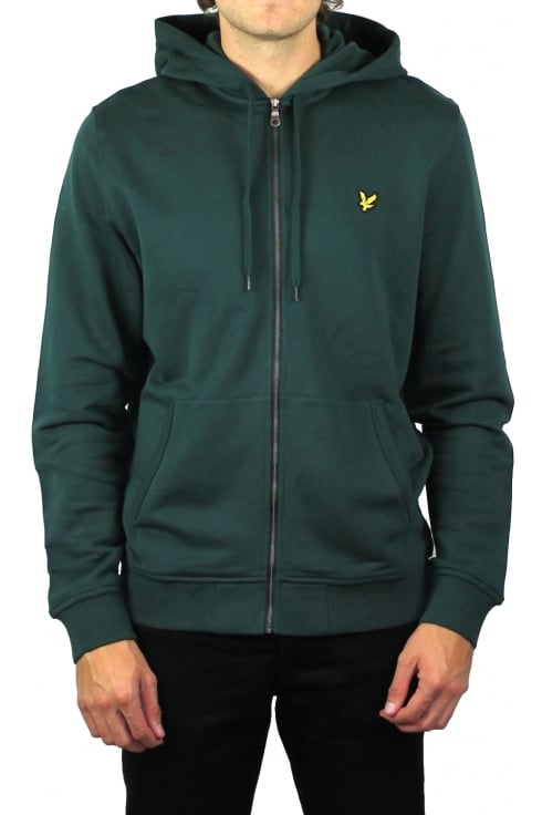 Lyle & Scott Zip-Through Hoody (Forest Green)