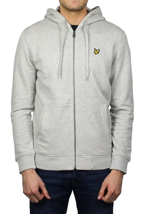 Lyle & Scott Zip-Through Hoody (Light Grey Marl)
