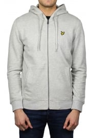 Zip-Through Hoody (Light Grey Marl)