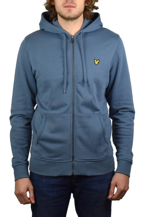 Lyle & Scott Zip-Through Hoody (Mist Blue)