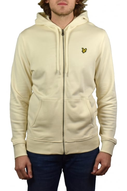Lyle & Scott Zip-Through Hoody (Seashell White)