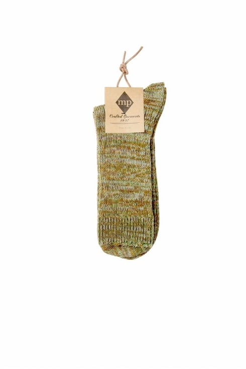 MP Crafted Garments William Regular Socks (Green)