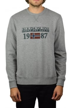 Berthow Crew-Neck Sweatshirt (Medium Grey Marl)