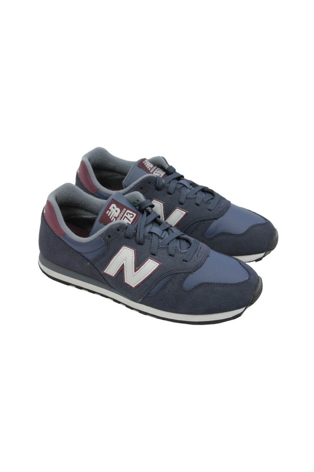 new concept a8122 575ad New Balance ML373NSR Trainers 'Suede Pack' (Navy/Red)