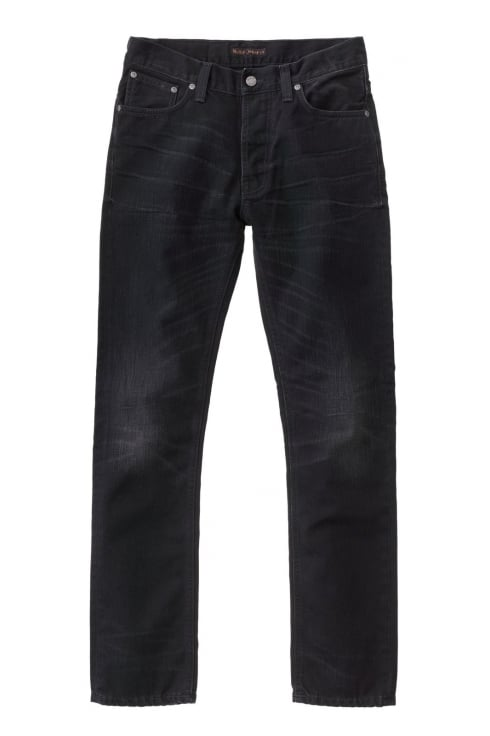 Nudie Jeans Co Dude Dan Regular Fit Jeans (Black Worn Rigid)