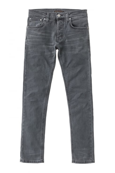 Nudie Jeans Co Grim Tim Slim Fit Jeans (Black Seas)