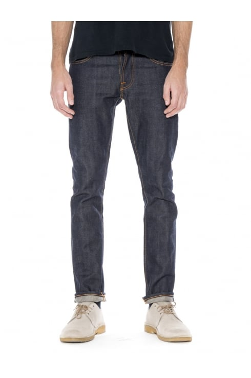 Nudie Jeans Co Grim Tim Straight & Slim Fit Jeans (Dry Selvage)