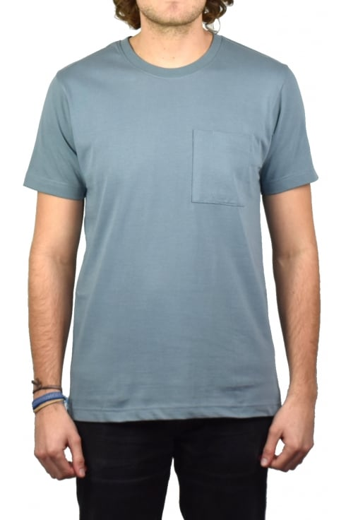 Nudie Jeans Co Kurt Worker T-Shirt (Blue Metal)