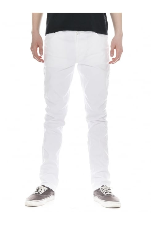 Nudie Jeans Co Lean Dean Straight & Slim Fit Jeans (Clean White)