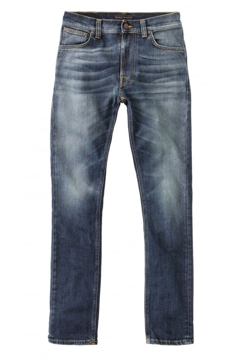 Nudie Jeans Co Lean Dean Straight & Slim Fit Jeans (Crispy Bora)