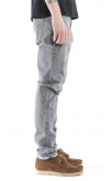 Nudie Jeans Co Lean Dean Straight & Slim Fit Jeans (Misty Grey)