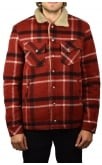 Nudie Jeans Co Lenny Wool Jacket (Red Check)