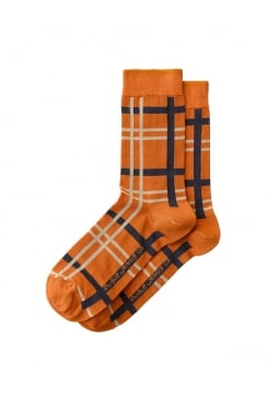 Olsson Check Socks (Orange)