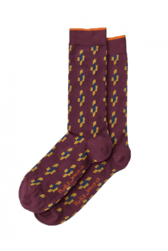 Olsson Ikat Socks (Plum)