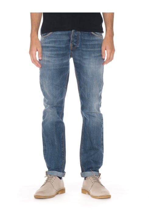 Nudie Jeans Co Steady Eddie Regular Fit Jeans (Crispy Crumble)