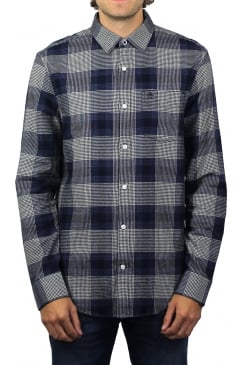 Brushed Flannel Long-Sleeved Shirt (Snorkel Blue)
