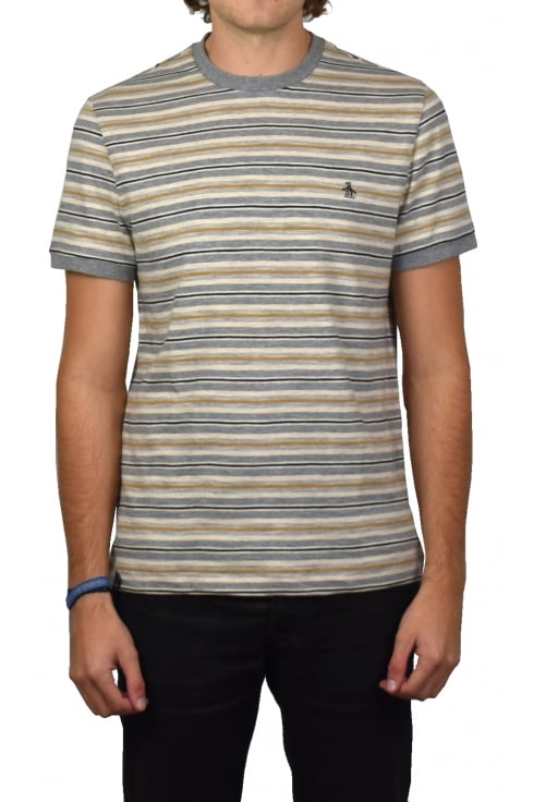 Original Penguin Heathered Slub Yarn Dye T-Shirt (Athletic Grey Heather)