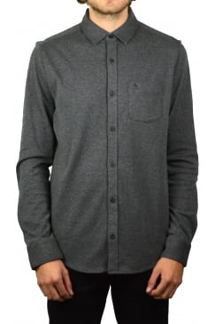 Knitted Nep Long-Sleeved Shirt (Charcoal Heather)