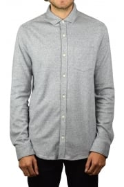 Knitted Nep Long-Sleeved Shirt (Steel Grey)
