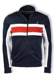 Long-Sleeved Colour Block Track Jacket (Dark Sapphire)