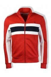Long-Sleeved Colour Block Track Jacket (Samba Red)