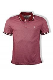 Mercerized Short-Sleeved Polo Shirt (Biking Red)