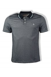 Mercerized Short-Sleeved Polo Shirt (Dark Sapphire)