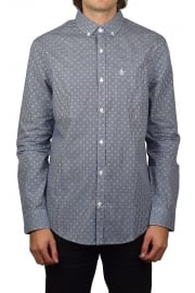 Mini Dobby Gingham Long-Sleeved Shirt (Blue Depths)