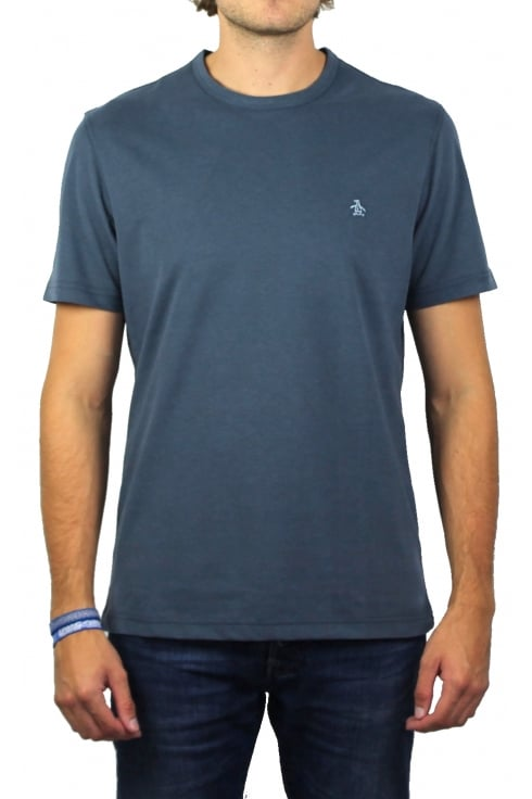 Original Penguin Peached Jersey Embroidery T-Shirt (Dark Sapphire Melange)