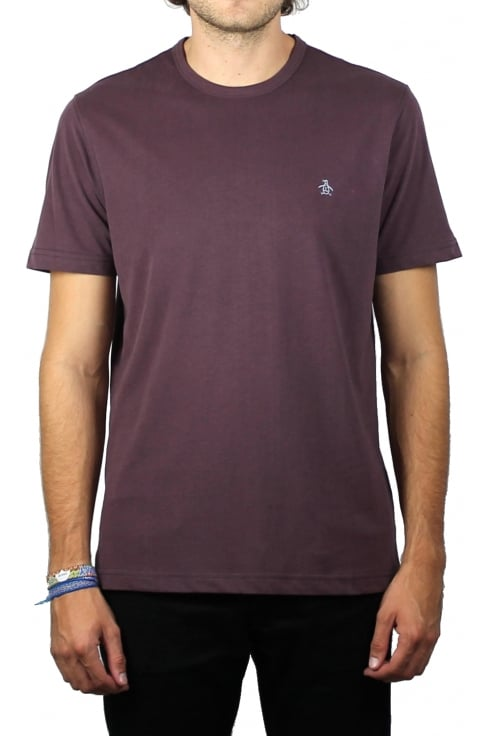 Original Penguin Peached Jersey Embroidery T-Shirt (Plum Wine Heather)